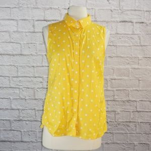 Talbots Polka Dot Button Down Tank Top ***